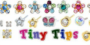 "Tiny Tips - The Tiny Tips Earrings have been specially designed for children to ensure the safety of their newly pierced ears. ""Gent..."