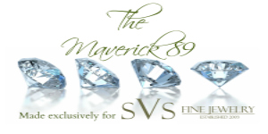 The Maverick 89™ diamond incorporates  the latest in state-of- the-art diamond cutting technology to make an exceptionally beautiful diamond at no extra premium to the consumer. At SVS Fine Jewelry all diamond offerings, including the Maverick 89™, are responsibly sourced through the Kimberly Process.  A Maverick 89™ diamond's beauty comes from the placement of an additional 32 facets. While not effecting the way the light enters and exits, the additional 32 extra facets do influence the frequency or the number of times the lights bounces inside of the diamond. 