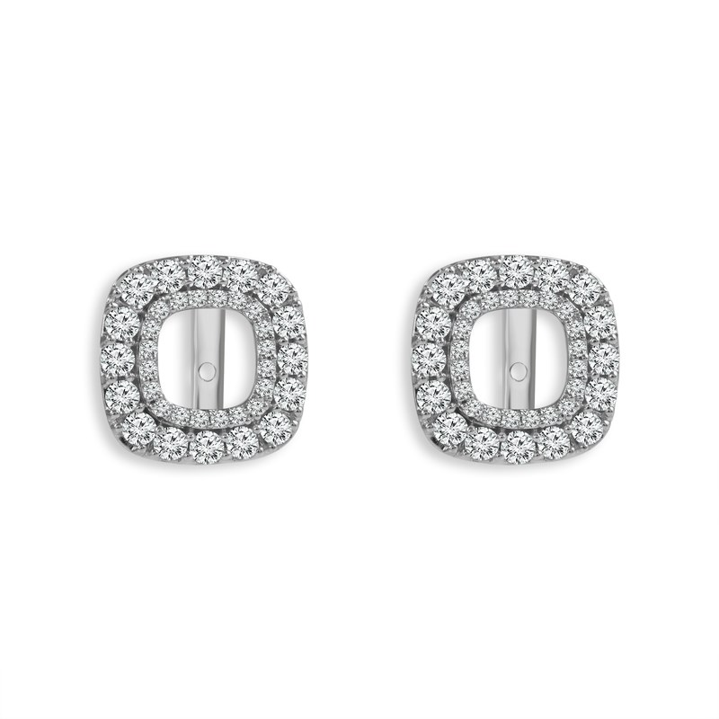 0 50cttw Diamond Studs Earrings Earring Jackets Gold Svs Fine Jewelry