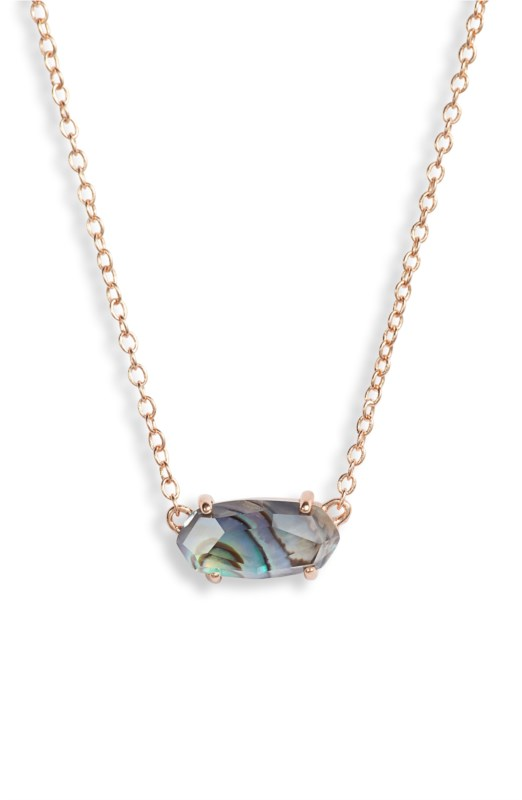 dcc17e067 42177025641-Kendra Scott-Ever Rose Gold Necklace In Abalone Shell-SVS Fine  Jewelry