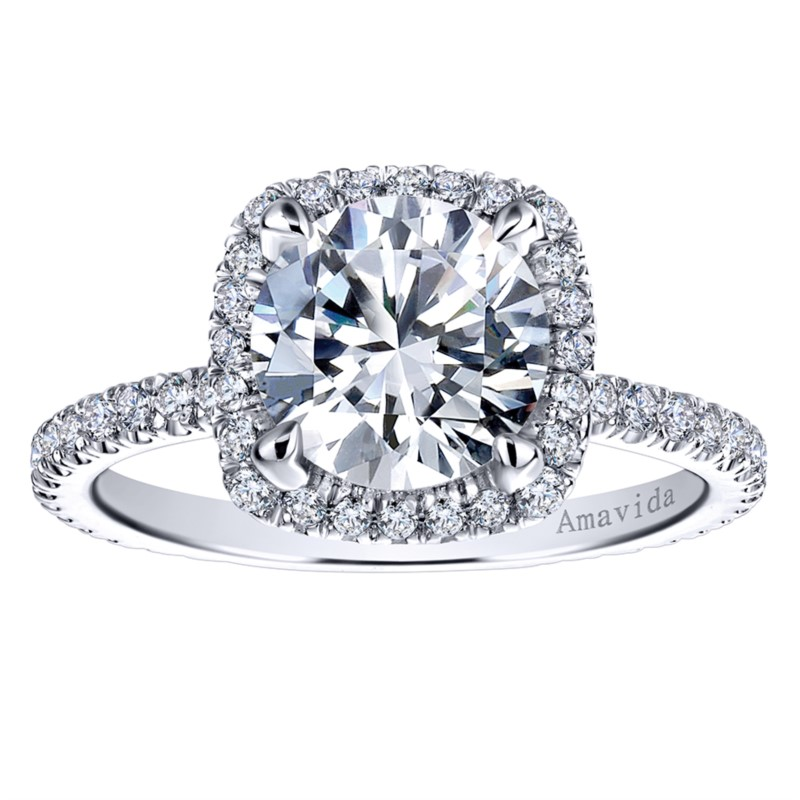 top of rings princess with collection engagement large mounting platinum gabriel diamond amavida by collections