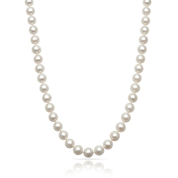 ce43b556f NF-78/48-14K White Gold 7-8 mm Fresh Water Pearl Necklace, 48