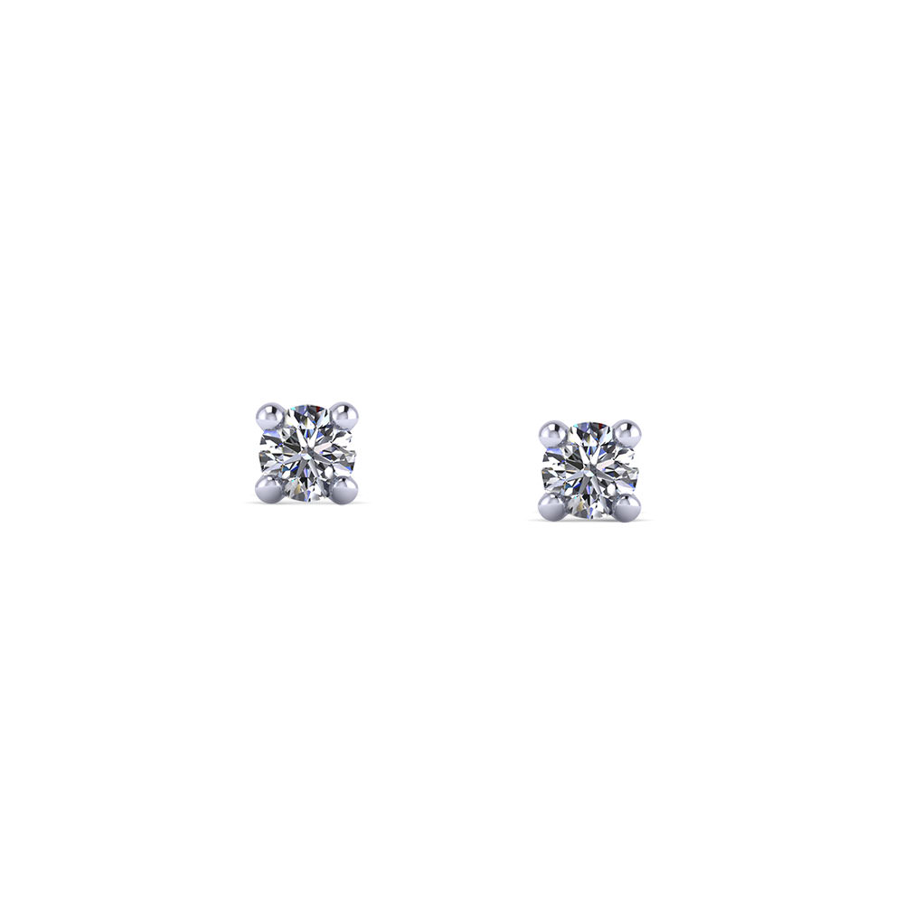 White Gold Diamond Studs by The SVS Signature 89 Diamond Collection