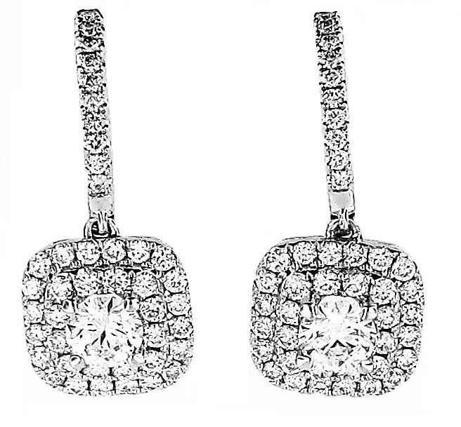 Forevermark Diamond Double Row Drop Earrings by Forevermark Jewelry