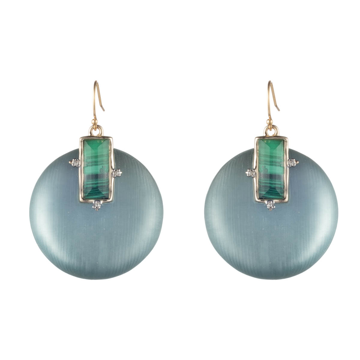 Alexis Bittar Stone Studded Retro Wire Earrings by Alexis Bittar