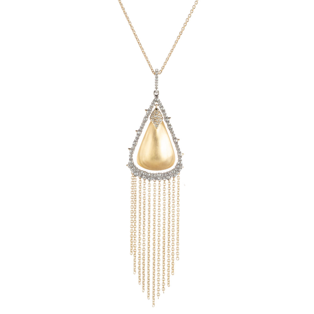 Alexis Bittar Crystal Capped Tassel Chain Necklace by Alexis Bittar