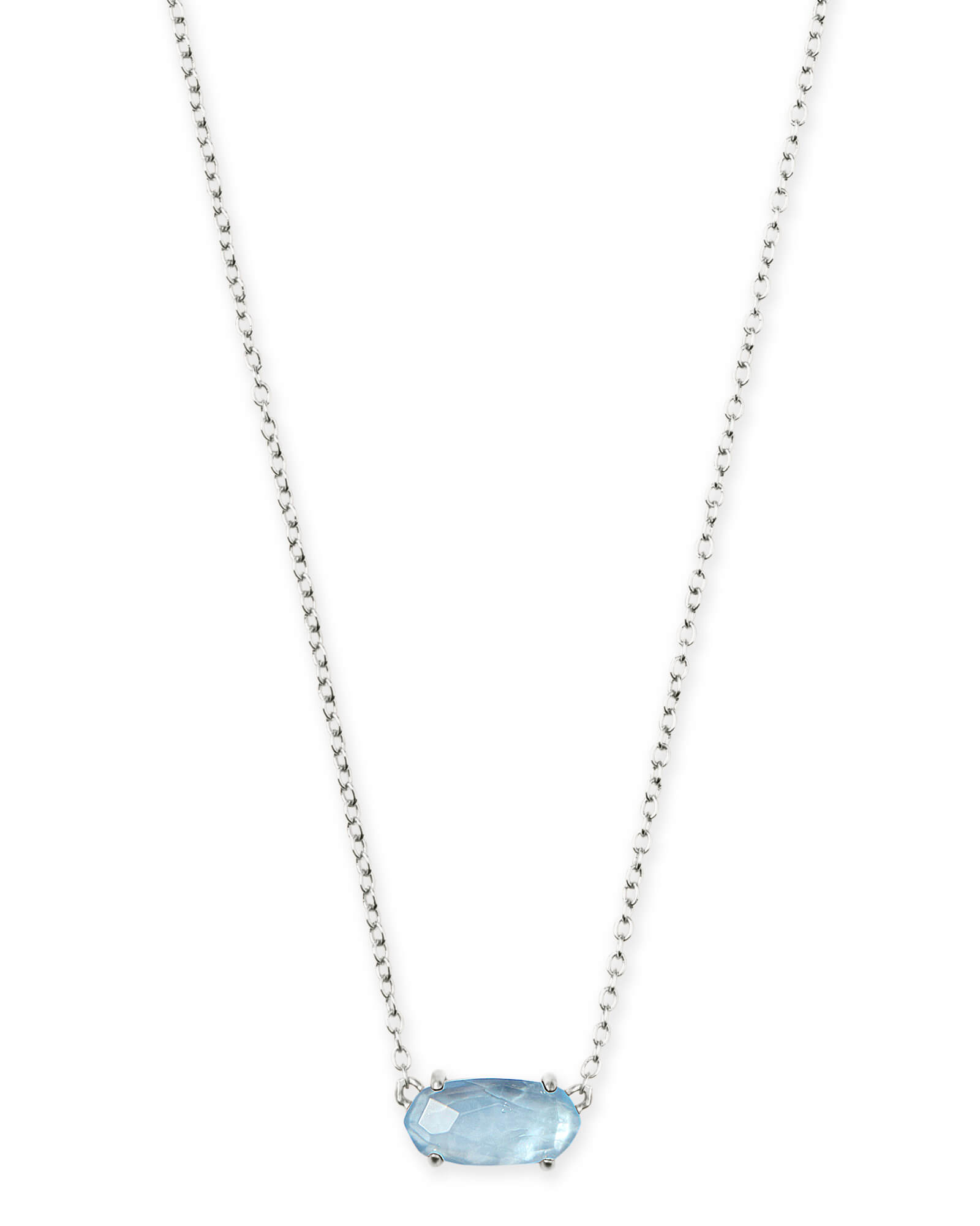 Kendra Scott Ever Silver Pendant Necklace in Sky Blue Illusion by Kendra Scott