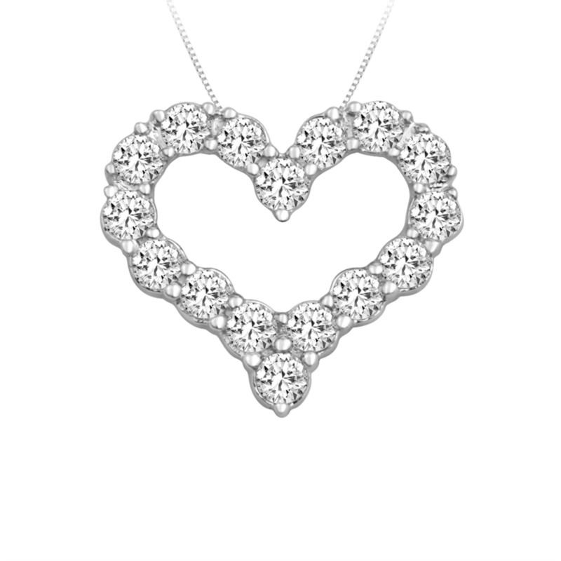 SVS Signature 89© Open Heart Necklace by The SVS Signature 89 Diamond Collection