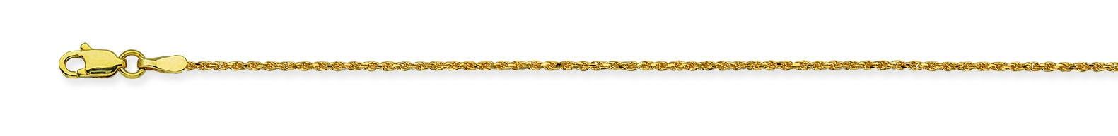 Yellow Gold Chinese Rope Chain With Lobster Lock by Midas