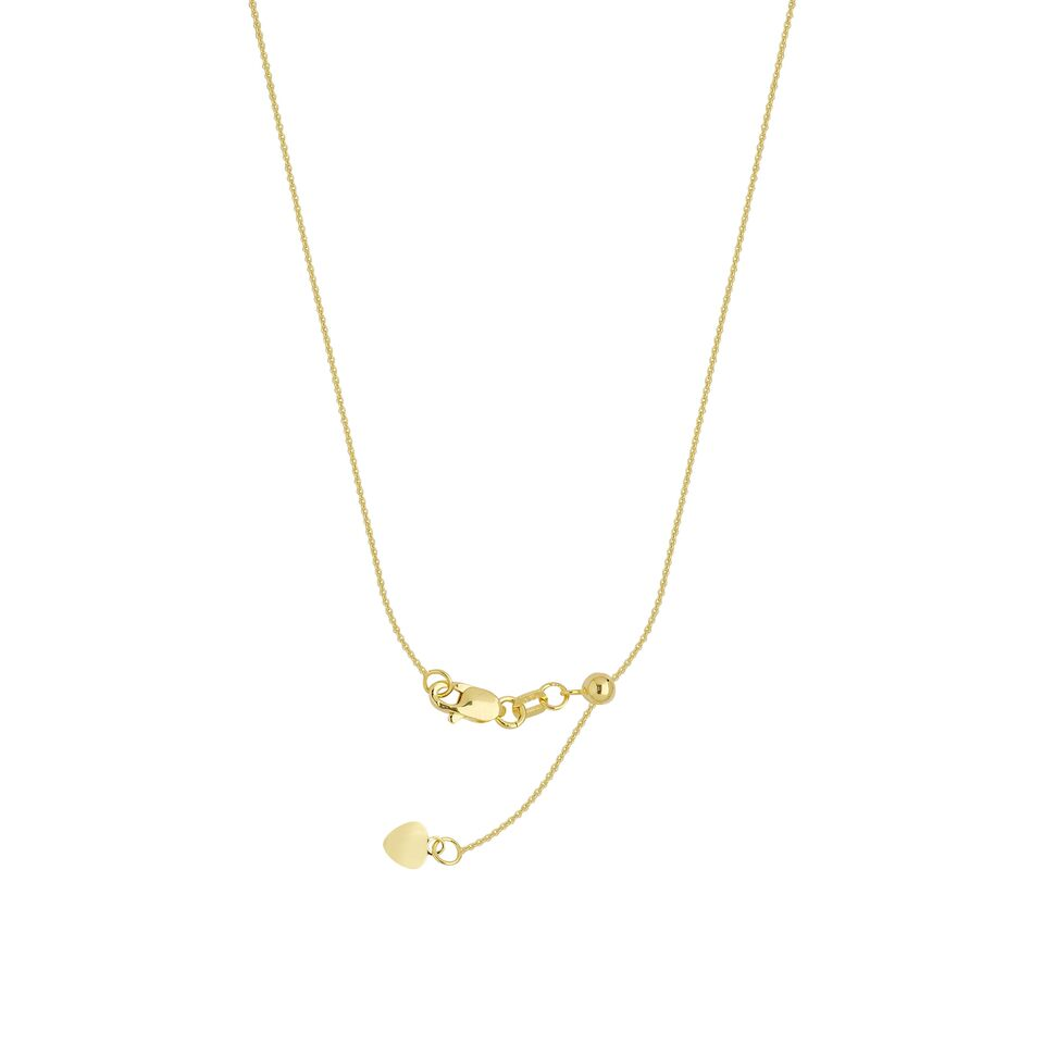 Yellow Gold Adjustable Cable Chain by Midas