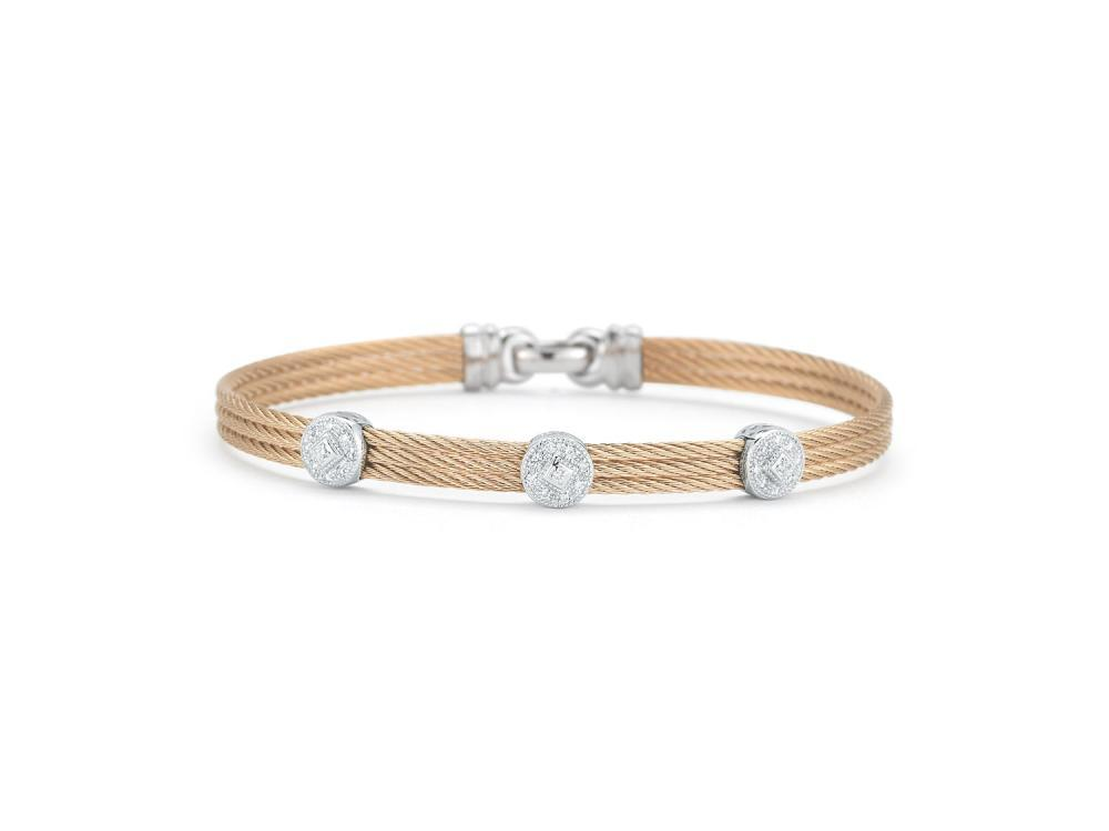 ALOR Rose Cable Bangle by ALOR Fine Jewelry