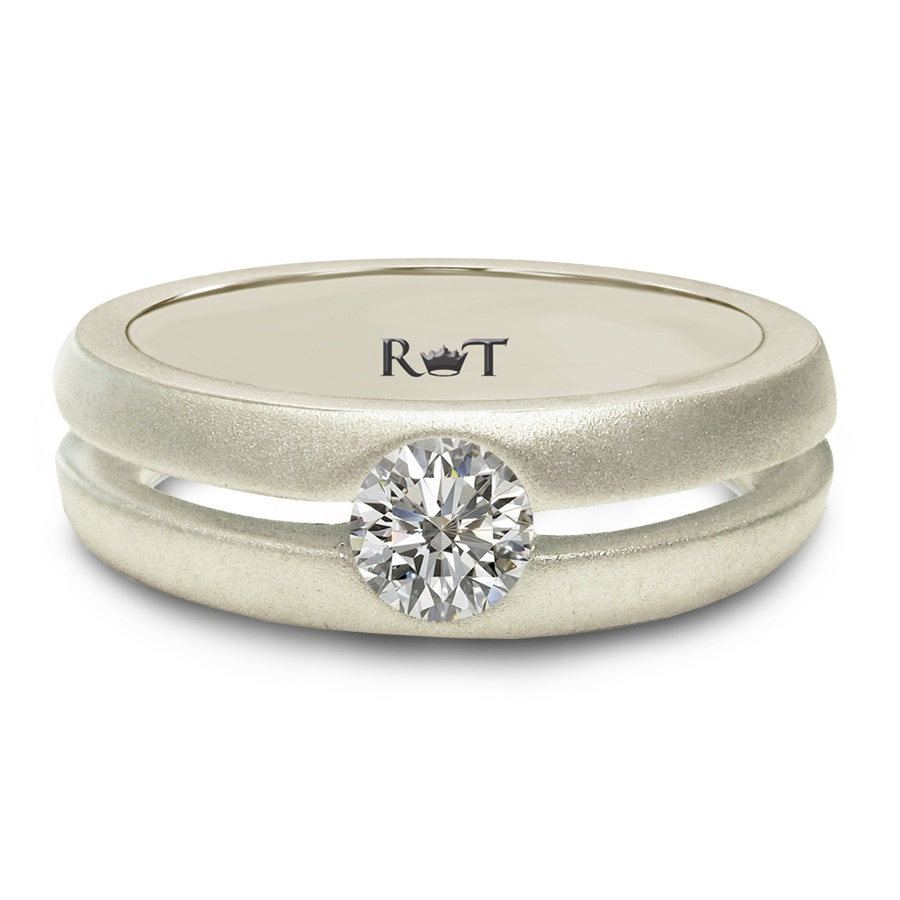 Rony Tennenbaum AIR Collection White Gold Wedding Band by Rony Tennenbaum