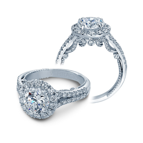 Verragio Insignia Collection White Gold Engagement Ring by Verragio