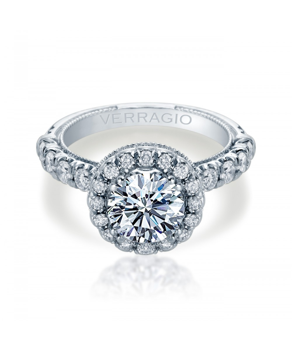 Verragio Renaissance Collection White Gold Engagement Ring by Verragio