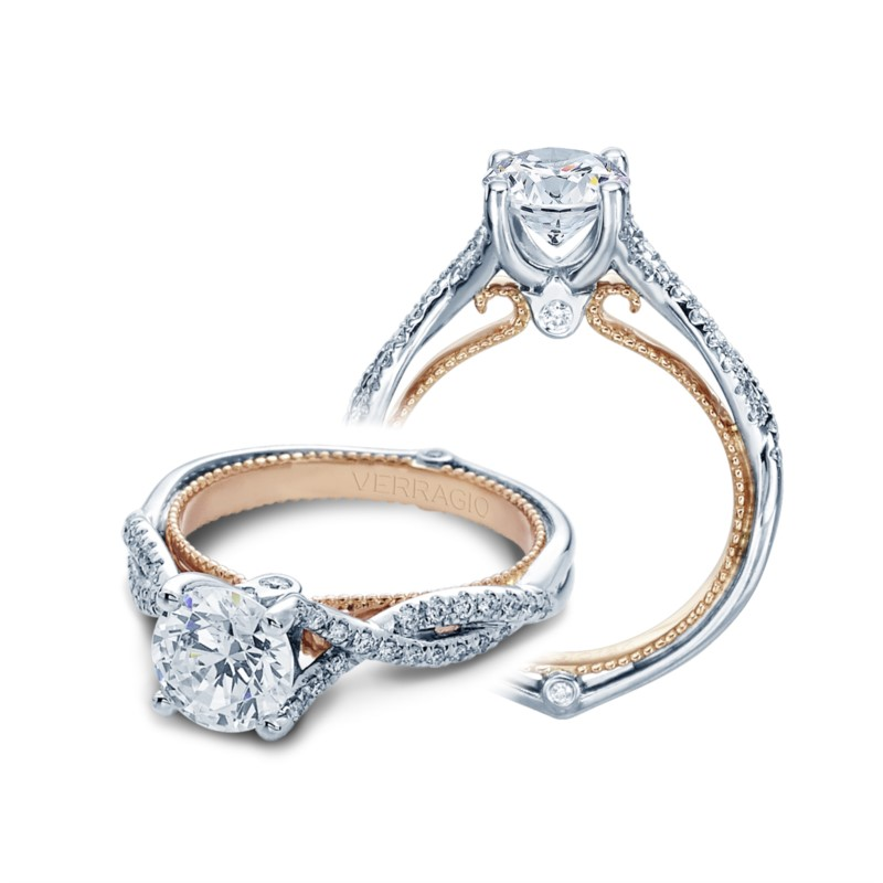 Verragio Couture Collection White & Rose Gold Engagement Ring by Verragio