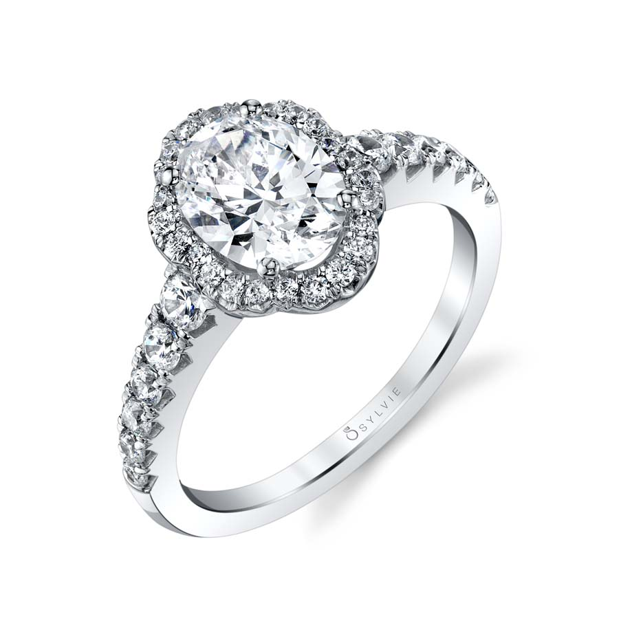 Sylvie Oval Engagement Ring by Sylvie Engagement Rings