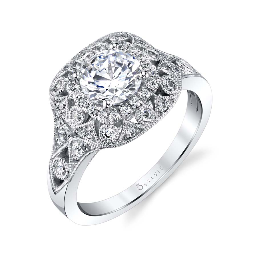 Sylvie Vintage Inspired Engagement Ring by Sylvie Engagement Rings