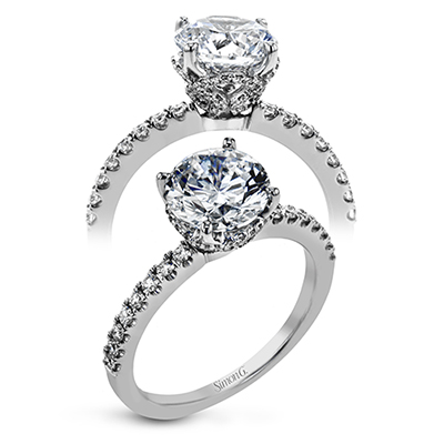 Simon G. Classic Romance Collection Platinum Engagement Ring by Simon G