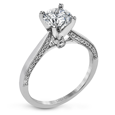 Simon G. Solitaire Collection Platinum Engagement Ring by Simon G