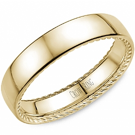 Crown Ring Rope Collection Yellow Gold Wedding Band by Crown Ring Wedding Bands