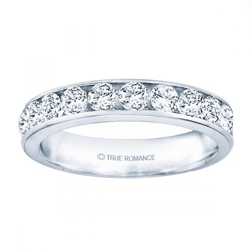 True Romance 14K White Gold Channel Wedding Band by True Romance
