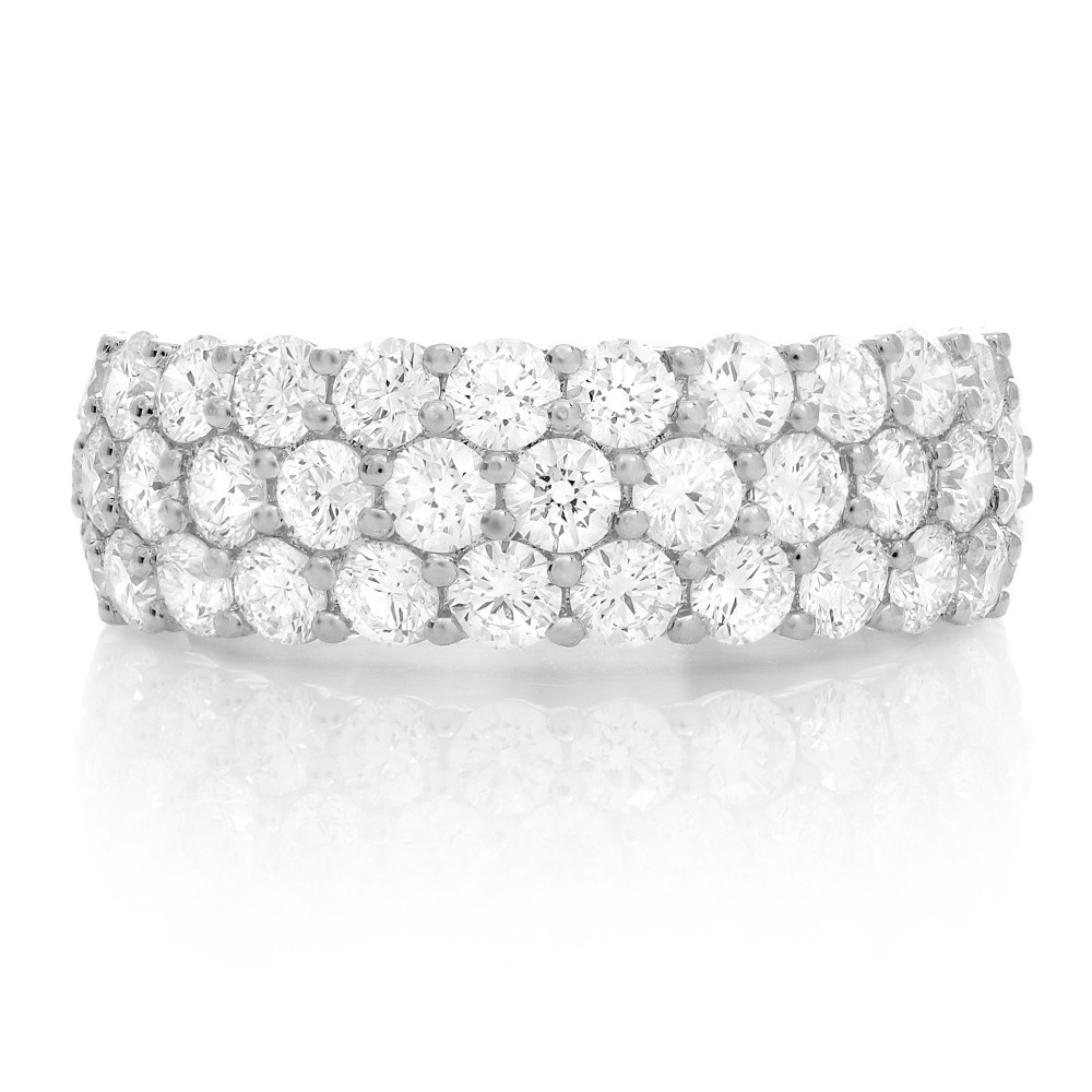 White Gold and Diamond Triple Row Eternity Band by Roman + Jules
