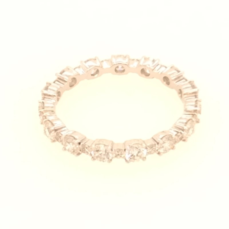 White Gold and Diamond Eternity Band by Roman + Jules
