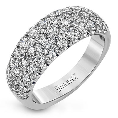 Simon G. Nocturnal Sophistication Collection White Gold Diamond Wedding Band by Simon G