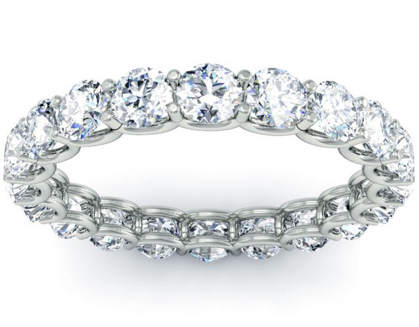 White Gold Forevermark Diamond Eternity Band by Forevermark Jewelry
