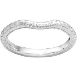 True Romance 14K White Gold Vintage Inspired Matching Wedding Band by True Romance