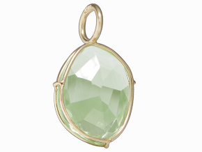 Heather Moore Green Amethyst Harriet Stone Set In 14K Yellow Gold Wire by Heather Moore Personalized Jewelry
