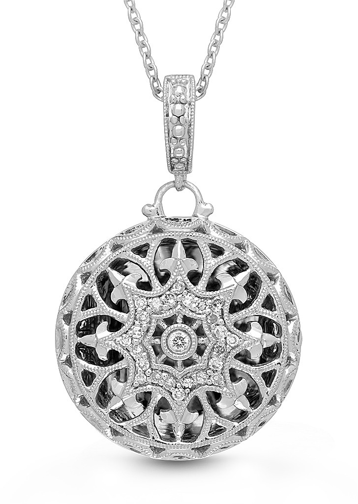 With You Beatrice Sterling Silver Locket by WITH YOU Lockets