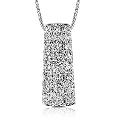 Simon G. Nocturnal Sophistication Collection White Gold Diamond Pendant by Simon G