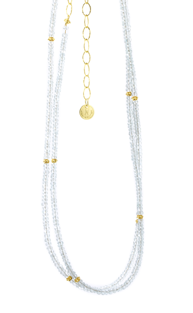 Nina Nguyen Harmony Collection Sterling Silver Moonstone Necklace by Nina Nguyen