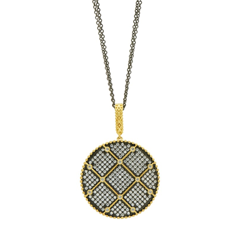 Freida Rothman Signature Double Sided Pendant Necklace by Freida Rothman
