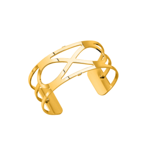 Les Georgettes Infini Cuff - Gold Plated, Medium 25 mm by Les Georgettes
