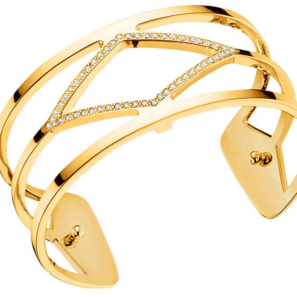 Les Georgettes Losange Cuff - Gold Plated, Medium 25 mm by Les Georgettes