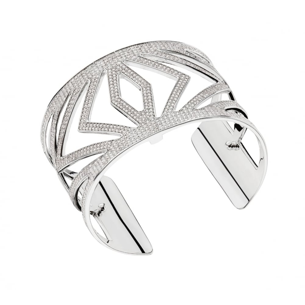 Les Georgettes Chevrons Cuff - Silver Plated, Medium 25 mm by Les Georgettes