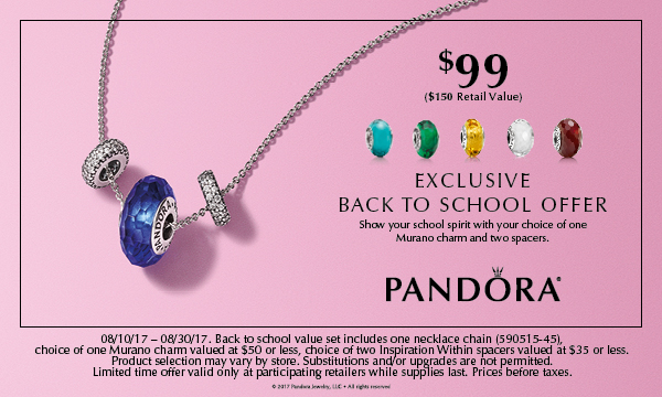 Pandora Back To School
